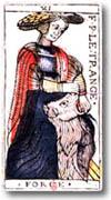 Tarot de Jean Dodal, arcane XI La Force