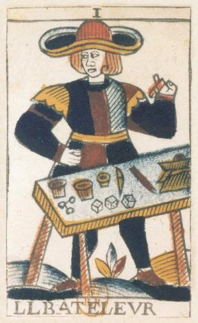 Tarot de Jean Noblet, I le Bateleur