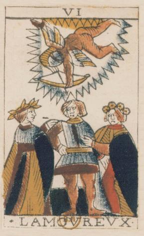 Tarot de Jean Noblet, VI L'Amourevx