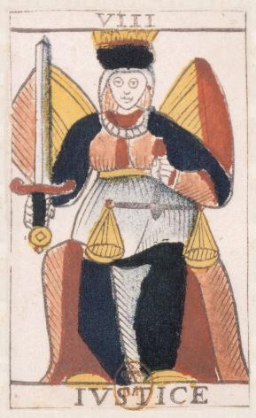 Tarot de Jean Noblet, VIII Ivstice