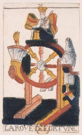 Tarot de Jean Noblet, X La rove de fortvne