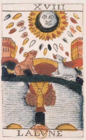 Tarot de Jean Noblet, XVIII La Lune