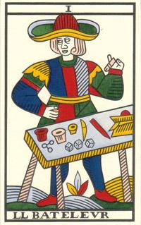 Tarot de Jean Noblet, I le Bateleur, JC Flornoy restauration