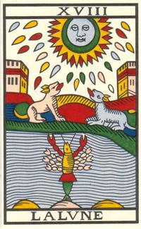 d6e1fba763371e Les Secrets du Tarot  LA LUNE (Arcane 18)